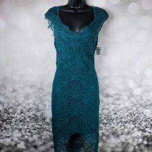 Free People Emerald Scalloped Lace Dress